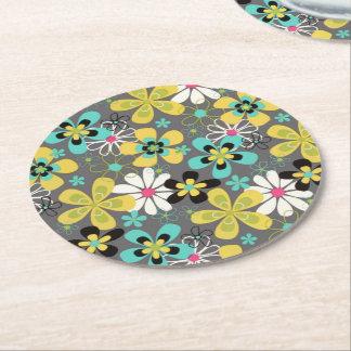Weites heraus Blumen Runder Pappuntersetzer