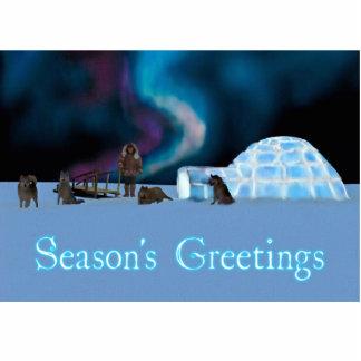 Weites Nordweihnachten - die Grüße der Jahreszeit Fotoskulptur Magnet