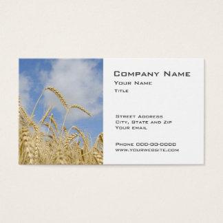 Weizen-Bauers-Geschäfts-Karten Visitenkarte
