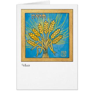 Weizen, eins der sieben Spezies von Israel Karte