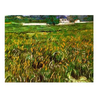 Weizen-Feld bei Auvers durch Van Gogh Postkarte