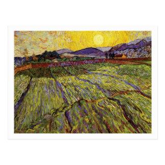 Weizen-Feld mit aufgehende Sonne durch Vincent van Postkarten