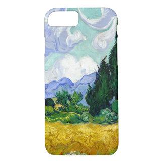 Weizen-Feld mit Zypressen durch Van- Goghschöne iPhone 8/7 Hülle