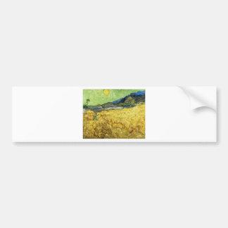 Weizen-Felder mit Sensenmann am Sonnenaufgang - Autoaufkleber