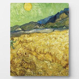 Weizen-Felder mit Sensenmann am Sonnenaufgang - Fotoplatte