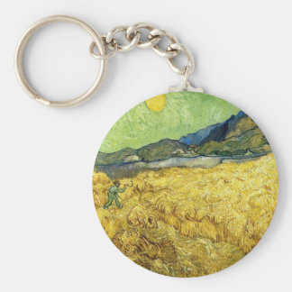 Weizen-Felder mit Sensenmann am Sonnenaufgang - Schlüsselanhänger