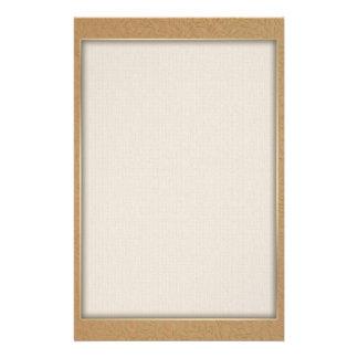 Weizen-Gold prägeartige Blatt-Reben Briefpapier