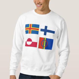 Welche Flagge ist DIE? Nordic kennzeichnet Sweatshirt