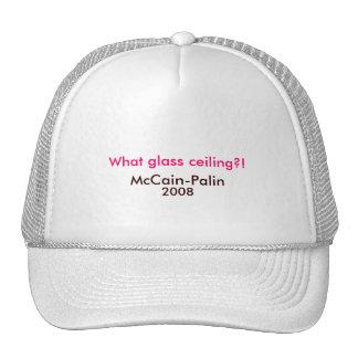 Welche Glasdecke?! , McCain-Palin Hut 2008 Baseball Kappe