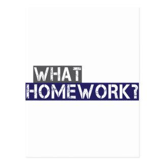 welche Hausaufgaben? Postkarte