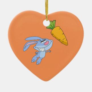 Welche Kaninchen ungefähr träumen Keramik Herz-Ornament
