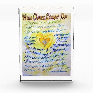 Welcher Krebs Gedicht-Gewohnheits-Papierbeschwerer Auszeichnung