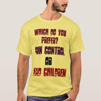 Welches bevorzugen Sie? Gewehr-Kontrolle oder tote T-Shirt