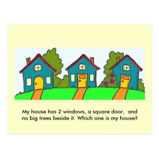 Welches ist mein Haus? Postkarte