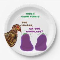 welches kam zuerst? Huhn oder Aubergine?