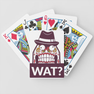 welches wat beängstigende Zähne entwerfen Bicycle Spielkarten