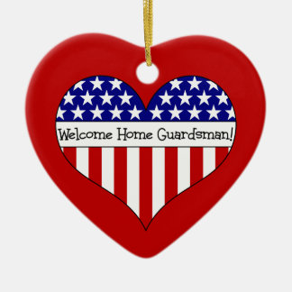 Welcome Home Guardsman! Christmas Tree Ornaments