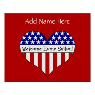 Welcome Home Sailor! (Customizable Name) Posters