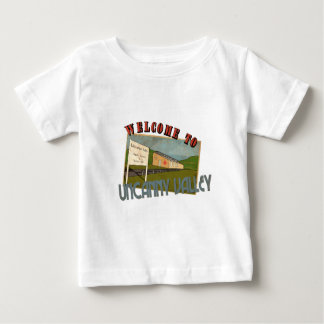 Welcome to uncanny valley baby t-shirt
