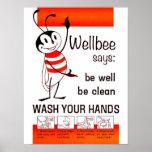 Wellbee CDC-WÄSCHE IHR HANDanzeige-Plakat