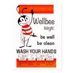 Wellbee CDC-WÄSCHE IHR HANDanzeige-Plakat Postkarten