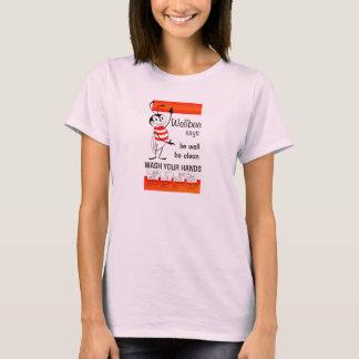 Wellbee CDC-WÄSCHE IHR HANDanzeige-Plakat T-Shirt