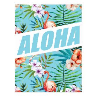 Wellcoda Aloha Sommer-Flamingo-Feiertag Postkarte