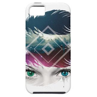 Wellcoda Augen-Feder-Fantasie-Galaxie-Himmel Schutzhülle Fürs iPhone 5