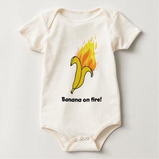 Wellcoda Banane auf Feuer-guten Rutsch ins Neue Baby Strampler