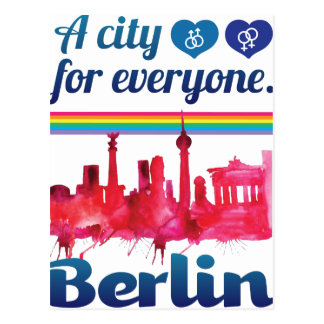 Wellcoda Berlin für jeder liebevolle Stadt Postkarte
