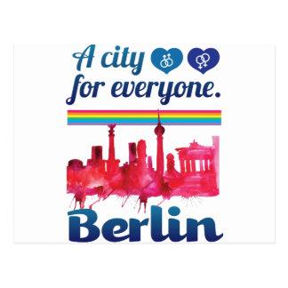 Wellcoda Berlin für jeder liebevolle Stadt Postkarten