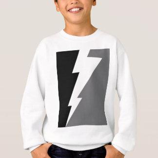 Wellcoda Blitz-Schock-Streik-graues Schwarzes Sweatshirt