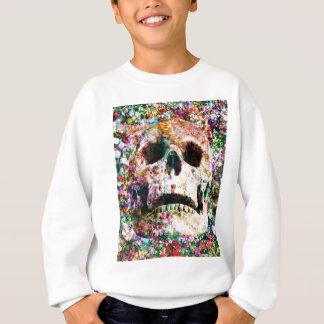 Wellcoda Blumen-Bett-Schädel-Leben-Grab-Yard Sweatshirt