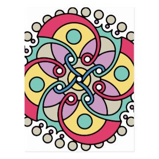 Wellcoda böse Blumen-Art-verrückter Blick Postkarte