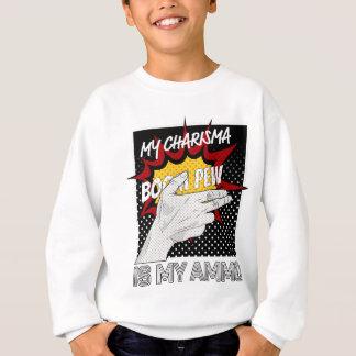 Wellcoda Charisma ist Munitions-Spaß-Comic-Hand Sweatshirt