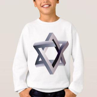 Wellcoda Davidsstern Symbol-Judentums-Zeichen Sweatshirt