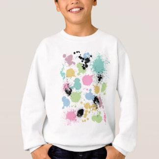 Wellcoda Farben-Spaß-platscher Effekt bunt Sweatshirt
