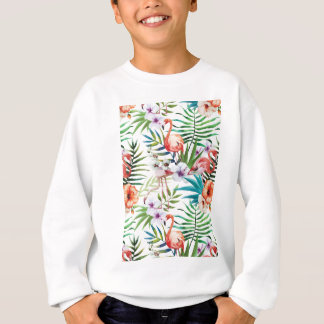 Wellcoda Flamingo-Vogel-Lebensraum-Tier-Spaß Sweatshirt