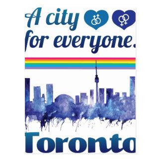 Wellcoda freundliche Toronto Stadt-Toleranz Postkarte