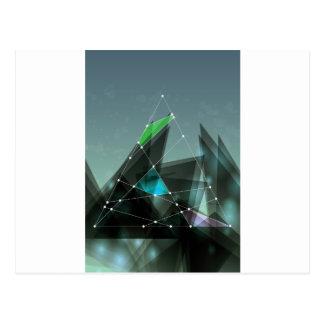 Wellcoda grafisches Form-Muster-verlorene Art Postkarte