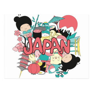 Wellcoda Japan Kultur-Asien-Parade-Leben Postkarte