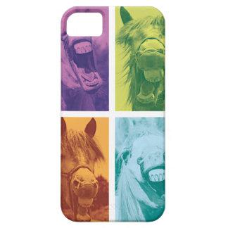 Wellcoda lustiges Tierlachen-verrücktes Pferd Barely There iPhone 5 Hülle