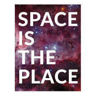 Wellcoda Raum ist der Platz-Spaß-große Planet Postkarte