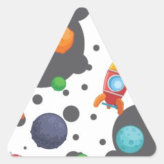 Wellcoda Rocket Mond-Landungs-Raum-Kriege Dreieckiger Aufkleber