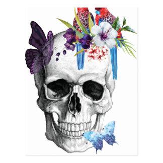 Wellcoda Schädel-Todesparadies-schlechtes Postkarte