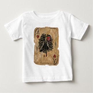 Wellcoda Skeleton As-Herzen Ribcage Karte Baby T-shirt