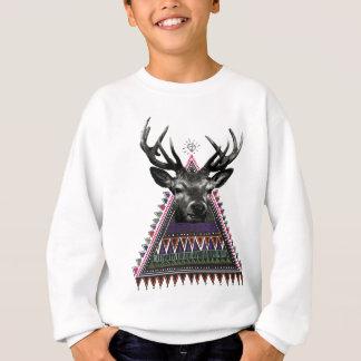 Wellcoda Spaß-Hirsch-Diamant-Rotwild-verrücktes Sweatshirt
