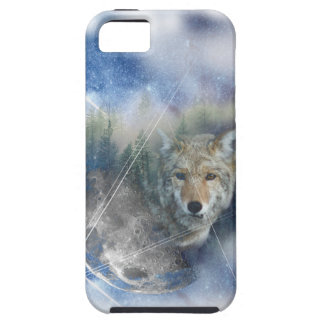 Wellcoda Tierwolf-Galaxie-Fantasie-Zoo iPhone 5 Schutzhülle
