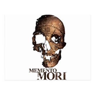 Wellcoda Todesschädel-Uhr-Skelett-Zeit Postkarten
