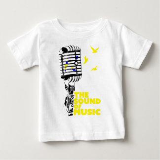 Wellcoda Ton von Musik singen Mikrofon Baby T-shirt